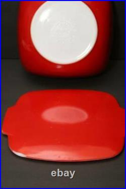 1.5 QT Lid Vintage Corning Pyrex Autumn Red Hostess Oven Table Ware 1953 Rare