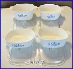10 Pc Rare Vintage Corning Ware Blue Cornflower Casserole 1qt, 2=1.5,1 3/4,2qt