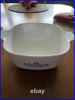 1958-59 Corning Ware Blue Cornflower Vintage Pyroceram Casserole Dish withlid