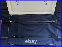 1958 Rare Vintage Corning Ware Blue Cornflower Broil, Bake Tray, P-35-B