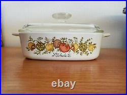 1970's Rare Stamped Vintage Spice of Life L'Echalote A1B corning ware