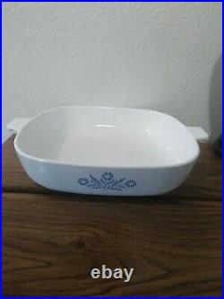 1970s Vintage Blue Cornflower Corning Ware 10 inch dish excellent condition