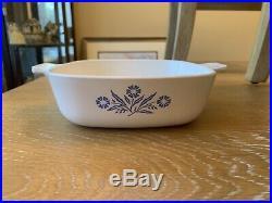 2 1970s Vintage Corning Ware Blue Cornflower Casserole Dishes