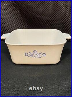 24 Piece Vintage Corning ware Blue Cornflower Lot Casserole W Lid Gravy Skillets