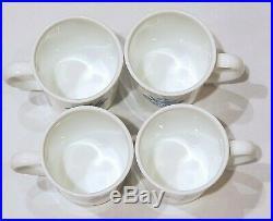 4 Vintage Corning Ware Blue Cornflower Coffee Mugs Cups 3 7/8