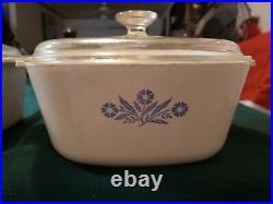 8 Piece Vintage corning pyrceram