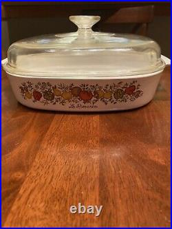 Authentic Rare Vintage Spice Of Life Le Romarin Corningware A-10-b Back Stamp