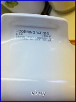 Authentic Vintage Corning Ware A-1-b Lechalote Spice Of Life Pryex Glass Top