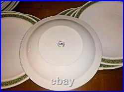 Centura Corning Lynwood Green 58 Pcs Vintage Mid-century Heavy Dinnerware Set
