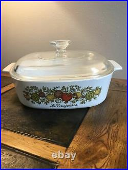 Collectors vintage Corning Ware La Marjolaine Spice Of Life A-2-B With Cover