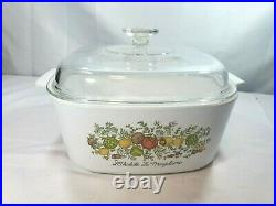 Corning Ware 5 Qt Spice O Life Vintage Casserole Dish A-5-B withLid Never Used