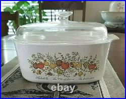 Corning Ware 5 Qt Spice O Life Vintage Casserole Dish Dutch Oven A-5-B withLid