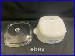 Corning Ware Blue Cornflower Casserole Dish + Lid 2 1/2 Quart Vintage P-2-1/2-B