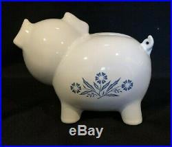 Corning Ware Blue Cornflower PIGGY BANK with Original Red Stopper Rare Vintage