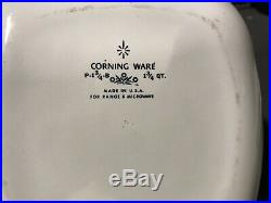 Corning Ware Corningware Green Wheat Avocado Rare Vintage P-10-b Pyrex Correlle