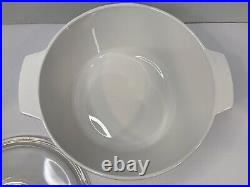 Corning Ware Range Topper 5 Quart With Glass LID Vintage N-5-b Blue Cornflower