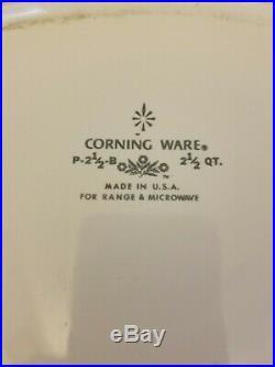 Corning Ware VINTAGE Blue Cornflower 2 1/2 Quart Casserole Dish With Lid