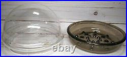 Corning Ware Vintage 1978 Plant Helper Terrarium Kit Clear Dome & Tinted Saucer