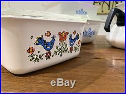 Corning Ware Vintage Blue Cornflower 13 Piece Set