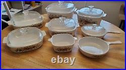 Corning Ware Vintage L'Echalote La Marjolaine Le Romarin Le Persil 14 Pieces Set