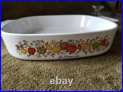 Corning Ware Vintage Spice of Life Pyrex La Romarin Large Casserole Dish WithLid