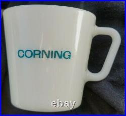 Corning pyrex blue mug vintage rare lab ware test tubes beakers medical exc