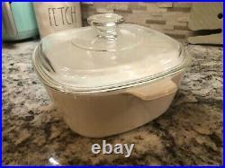 Corning ware blue cornflower 1.5 quart casserole pan with lid vintage P-1 1/2-B