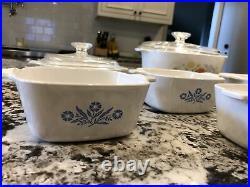 Corning ware blue cornflower Vintage