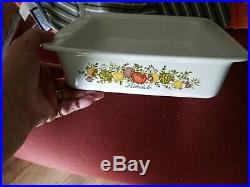 CorningWare SPICE OF LIFE L Echalote 8x8x2 Vintage Casserole Dish P-322