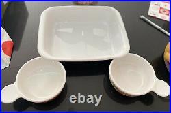 Corningware Le Rumarin vintage Set roasting/oven Large Dish And 2x Side dining