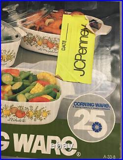 New Vintage Corning Ware Trio Casserole Dish Set SPICE O LIFE JCP Box