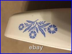 Nice Vintage Corning Ware Blue Cornflower Casserole Dish With LID P-16-b