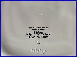 Original Vintage Corning Ware Blue Cornflower Baking Dish Glass Lid P 43 B