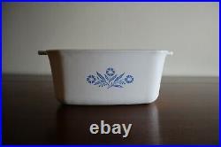 RARE 1970's P-4-B Vintage Corning Ware Cornflower Blue 1-1/2 Qt Casserole Dish