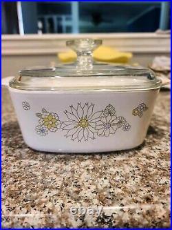 RARE Floral Bouquet Pattern 1 1970s Vintage Corningware a-1 1/2-b