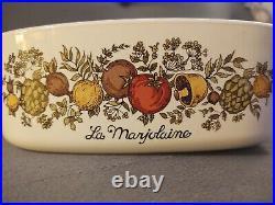 RARE La Marjolaine Corning Ware 1960-1970 Spice of Life 2 Qt Vintage Pyrex