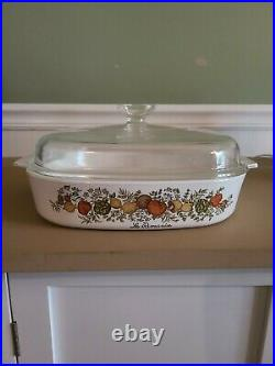 RARE STAMP Vintage Corning Ware Spice Of Life Le Romarin A 10 B Casserole Lid