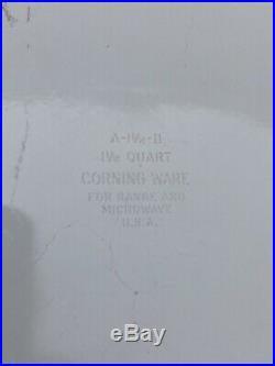 RARE VINTAGE BLUE CORNFLOWER 1960s-80'S BAKE CASSEROLE CORNINGWARE A-1 1/2-B OG