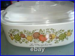 RARE Vintage Corning Ware 1960 1970 2 Qt La Marjolaine Spice Of Life A-2-B