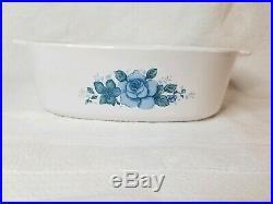 RARE Vintage Corning Ware, 2 Qt Corelle Blue Velvet Casserole Dish