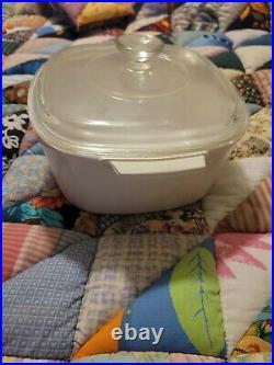 RARE Vintage Corning Ware 3 Quart Casserole dish & Lid A-3-B Wild flower