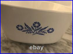 RARE Vintage Corning Ware BLUE CORNFLOWER Open Oven Casserole P-1 3/4-B 1958