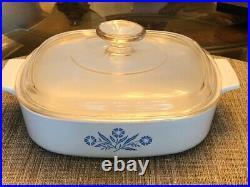 RARE! Vintage Corning Ware Blue Cornflower Casserole Set of 4