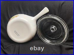RARE Vintage Corning Ware La Sauge Sauce Pan with handle and lid