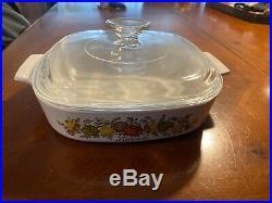 RARE Vintage Corning Ware Spice of Life L'Echalote A-8-B 8x8x1.75 Casserole Dish