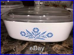RARE Vintage Spice Of Life CorningWare/ Vintage CorningWare Blue Cornflower