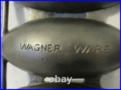 RARE Wagner Ware Vienna Roll H Corn Pone Pan 4-Cup Cast Iron DESIRABLE