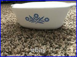RARE vintage Corning Ware Blue Cornflower 1 1/2 qt