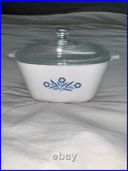 RAREVintage Corning Ware Blue Cornflower Casserole Dish Set 2 pieces