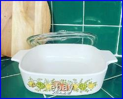 Rare SEE STAMP Vintage Corning Ware L'Echalote A -1 B Spice Of Life 1 Quart